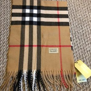 NWT Authentic Burberry cashmere scarf!